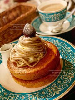 モンブランパンケーキの写真・画像素材[3711312]
