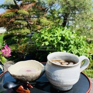 コーヒーと和菓子合うよねの写真・画像素材[3329001]