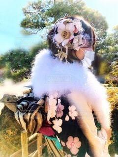 イベント,和服,お祝い,晴れ着,成人式,和装,行事,成人の日,コロナ禍の成人式,振袖でマスク着用