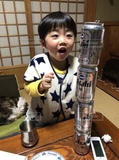 じぃじビールいっぱいのんだね〜の写真・画像素材[4128030]