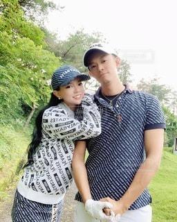 ゴルフ夫婦の写真・画像素材[3545547]