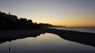 地中海、朝日、スペインの写真・画像素材[3301574]