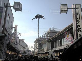 柴又の梯子乗りの写真・画像素材[3316326]