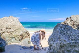 秘密のビーチの写真・画像素材[3315557]