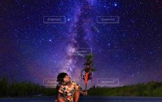 天の川に願いをの写真・画像素材[3372612]