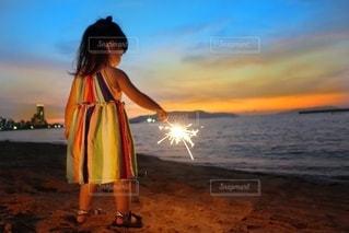 夕焼けの思い出の写真・画像素材[3403557]