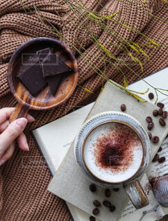 食べ物,カフェ,デザート,リラックス,チョコレート,おうちカフェ,ドリンク,おうち,ライフスタイル,おうち時間