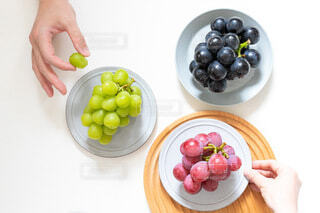 食べ物の皿を持っている人の写真・画像素材[4825416]