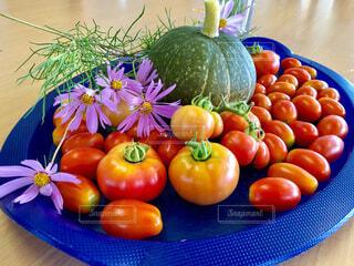 食べ物,コスモス,テーブル,トマト,野菜,食品,秋桜,食材,フレッシュ,ベジタブル,カボチャ,トレイ