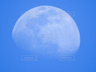 自然,風景,空,屋外,青空,青,月,クレーター,白い月,天文学,ホワイトムーン