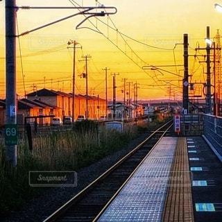 夕焼けが眩しくて。の写真・画像素材[3397836]