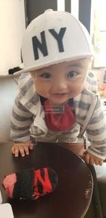 ご機嫌な赤ちゃんの写真・画像素材[3325863]