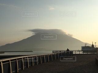 桜島①-冬の朝-の写真・画像素材[3340615]