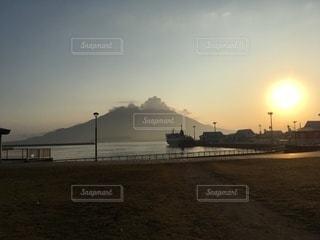 桜島③-冬の朝-の写真・画像素材[3340617]