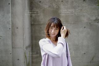 """冬のおでかけに映える""""美しい髪 """"の写真・画像素材[1585711]"""