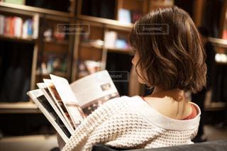 ブックカフェの写真・画像素材[1590002]