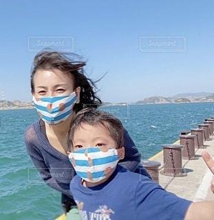 おそろいマスクの写真・画像素材[3536627]