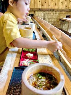 流し素麺の写真・画像素材[3541846]