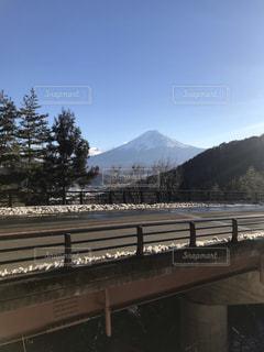 雪の富士山の写真・画像素材[3367608]