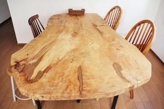 我が家のダイニングテーブルの写真・画像素材[3354191]