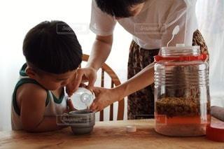 初めての梅シロップジュースの写真・画像素材[3354457]