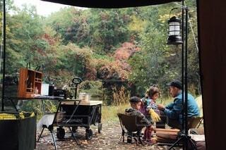 家族キャンプの写真・画像素材[3750269]