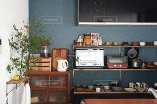 我が家のキッチンの写真・画像素材[3954522]