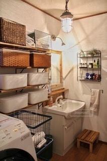 わが家の洗面所の写真・画像素材[4197759]