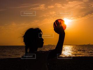 夕陽の贈り物の写真・画像素材[3356522]