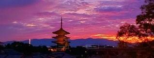 古都の夕暮れの写真・画像素材[3397245]