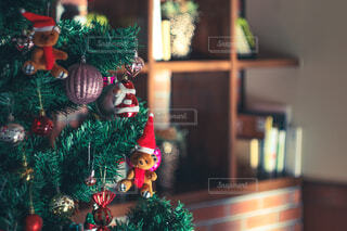 夕暮れ時のクリスマスツリーの写真・画像素材[3977310]