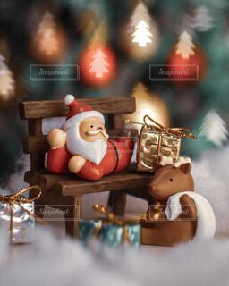 クリスマスのおうちフォトの写真・画像素材[3980461]