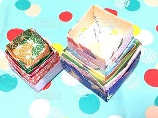 折り紙BOXの写真・画像素材[3385013]