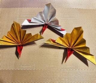 折り鶴クローズアップの写真・画像素材[3367947]