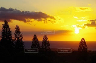 海に沈む夕日の写真・画像素材[3394692]
