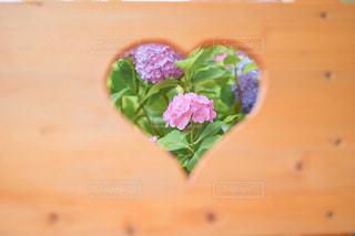 木製のテーブルの上に花瓶の写真・画像素材[3366758]