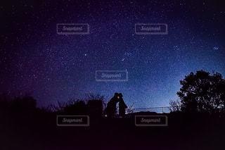 星空シルエットの写真・画像素材[3376903]