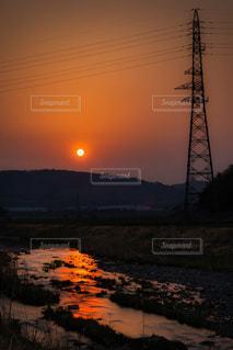 夕陽の写真・画像素材[3433658]
