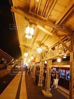 夜,駅,綺麗,阪急,映え,嵯峨嵐山
