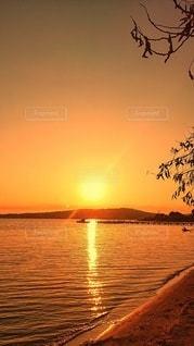 海辺の夕日の写真・画像素材[3406291]