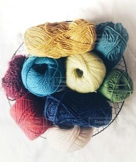 趣味の編み物 毛糸の写真・画像素材[3439834]