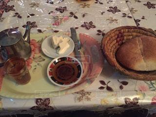 朝ごはん,モロッコ,リヤド,マラケシュ,ゆか写,ミントティー,モロッコパン