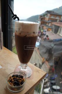 カフェ,台湾,九份,ゆか写,黒豆ココア