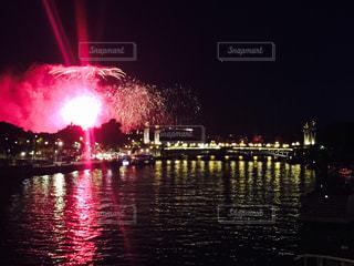 花火,フランス,パリ,エッフェル塔,セーヌ川,ゆか写,革命記念日,quatorze 14