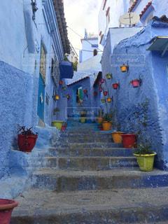 青の街の写真・画像素材[1195341]