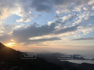 海,空,夕日,台湾,九份,ゆか写