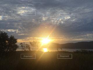 自然,空,夕日,湖,太陽,夕暮れ,光,琵琶湖