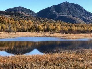 幻の湖と小田代ヶ原の貴婦人の写真・画像素材[3577413]