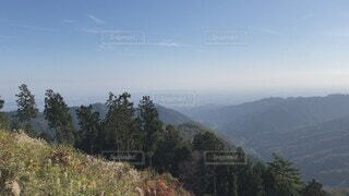 自然,風景,空,秋,富士山,屋外,森,緑,雲,日光,山,登山,樹木,眺望,ハイキング,草木,眺め,日中,山腹,景信山