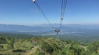 自然,風景,空,夏,屋外,青空,山,景色,トレッキング,登山,丘,樹木,涼しい,癒し,眺望,ロープウェイ,眺め,八ヶ岳,日中,山腹